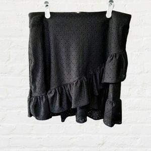 NWT Michael Kors diagonal ruffle skirt